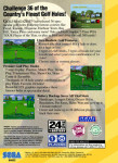 Sega 32X - Golf Magazine Presents 36 Great Holes Starring Fred Couples (back)
