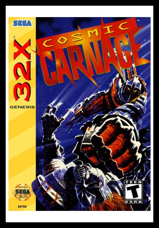 Sega 32X - Cosmic Carnage Poster