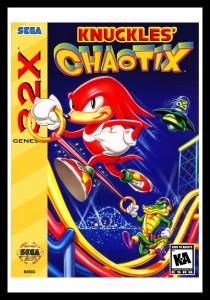 Sega 32X - Knuckles' Chaotix Poster