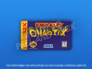 Sega 32X - Knuckles Chaotix Label