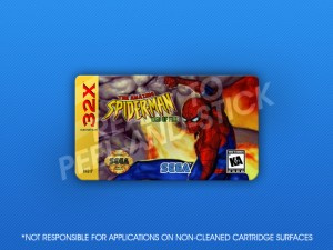 Sega 32X - Amazing Spider-Man: Web of Fire Label