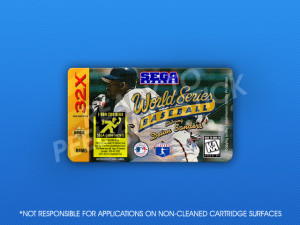 Sega 32X - World Series Baseball Starring Deion Sanders Label