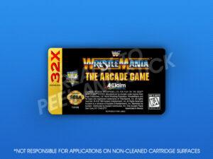 Sega 32X - WWF Wrestlemania: The Arcade Game Label