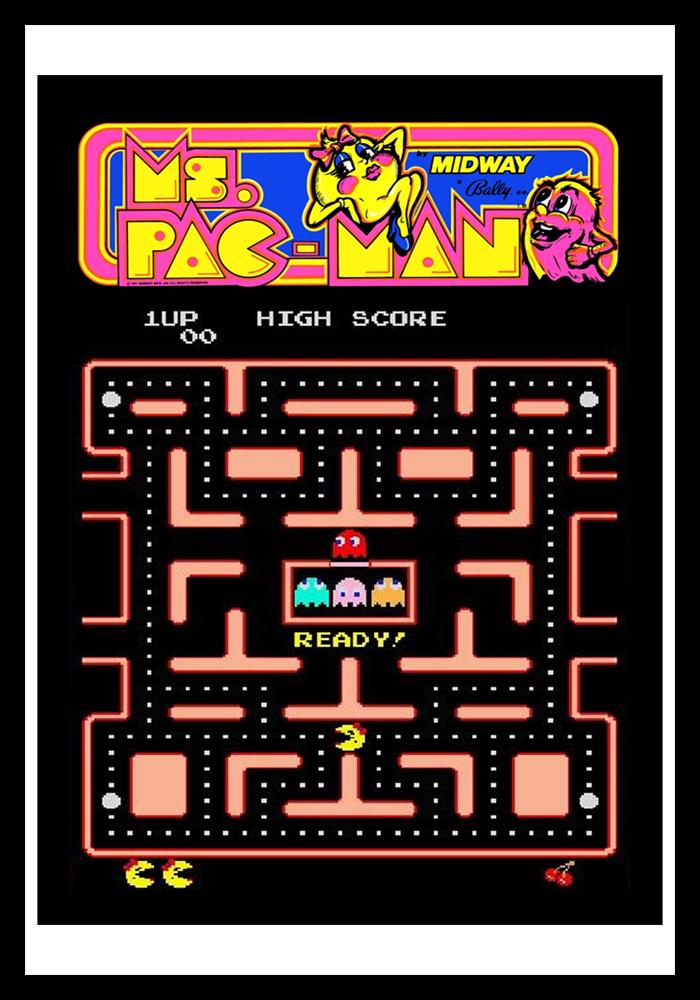 80s Classic Ms Pac Man Retro Game Cases