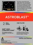 Atari 2600 - Astroblast (back)