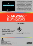 Atari 2600 - Star Wars: Return of the Jedi Death Star Battle (back)