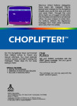 Atari 5200 - Choplifter! (back)