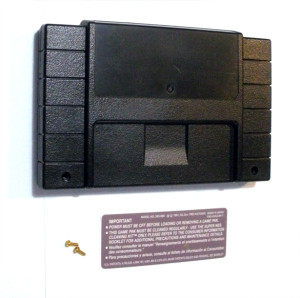 Solid Black SNES Cartridge Shell