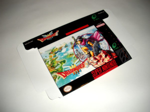 SNES - Dragon Quest III Game Box