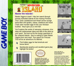 GameBoy - Adventure Island (back)