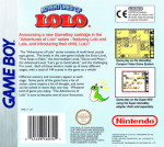 GameBoy - Adventures of Lolo (PAL) (back)