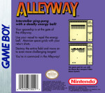 GameBoy - Alleyway (back)