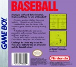GameBoy - Baseball (back)