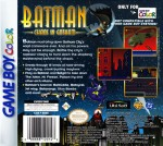 GameBoy Color - Batman: Chaos in Gotham (back)