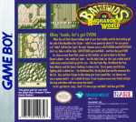 GameBoy - Battletoads in Ragnarok's World (back)