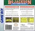 GameBoy - Bo Jackson: Two Games in One (back)