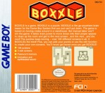 GameBoy - Boxxle (back)