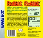 GameBoy - Bubble Bobble (back)