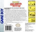 GameBoy - Castlevania II: Belmont's Revenge (back)
