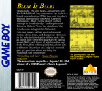 GameBoy - David Crane's The Rescue of Princess Blobette (back)