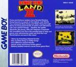 GameBoy - Donkey Kong Land 3 (back)