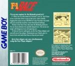 GameBoy - F-1 Race (back)