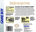 GameBoy - Final Fantasy Adventure (back)