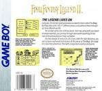 GameBoy - Final Fantasy Legend II (back)