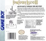 GameBoy - Final Fantasy Legend III (back)