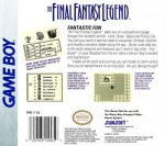 GameBoy - Final Fantasy Legend, The (back)