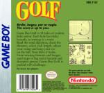 GameBoy - Golf (back)