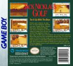 GameBoy - Jack Nicklous Golf (back)