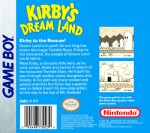 GameBoy - Kirby's Dream Land (back)