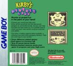 GameBoy - Kirby's Pinball Land (back)