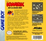GameBoy - Kwirk (back)