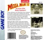 GameBoy - Mega Man IV (back)
