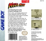 GameBoy - Mega Man: Dr. Wily's Revenge (back)