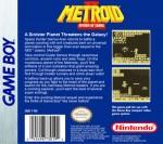 GameBoy - Metroid II: Return of Samus (back)