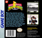 GameBoy - Mighty Morphin Power Rangers (back)