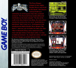 GameBoy - Mighty Morphin Power Rangers: The Movie (back)