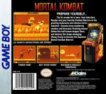 GameBoy - Mortal Kombat (back)