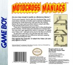 GameBoy - Motocross Maniacs (back)