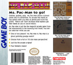GameBoy - Ms. Pac-Man (back)