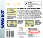 GameBoy - Mystic Quest (back)