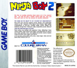 GameBoy - Ninja Boy 2 (back)