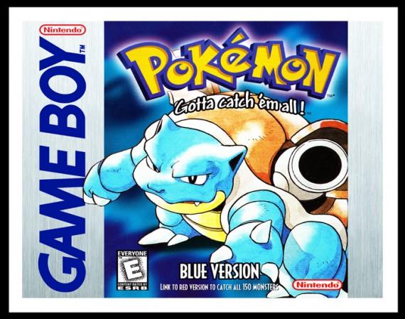 Gameboy - Pokemon Blue Version Poster