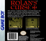 GameBoy - Rolan's Curse (back)