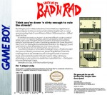 GameBoy - Skate or Die: Bad 'N Rad (back)