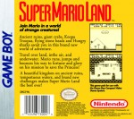 GameBoy - Super Mario Land (back)