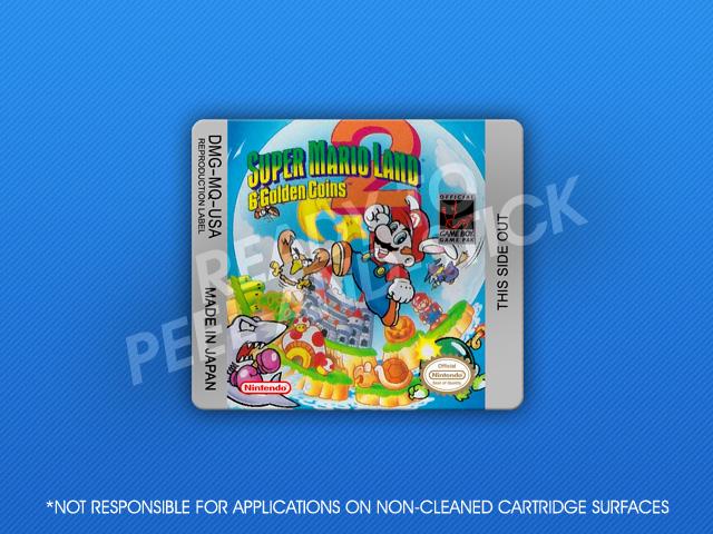 Gameboy Super Mario Land 2 6 Golden Coins Label Retro Game Cases